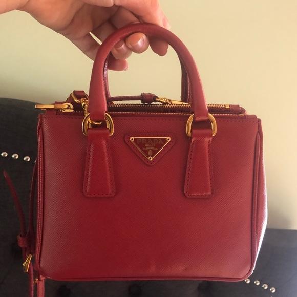 12f9f06afc ... promo code for red prada saffiano galleria mini crossbody bag 989d4  ec739